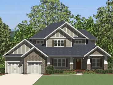 Craftsman House Plan, 067H-0023