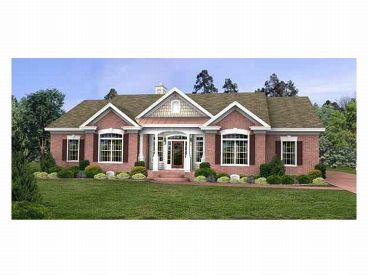 Ranch Home Plan, 007H-0066