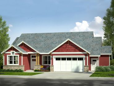 Craftsman Ranch House Plan, 051H-0249