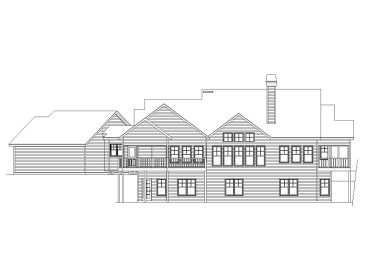 Mountain house plans empty nester mountain home plan for Mountain house plans rear view