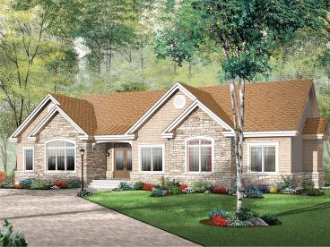 One-Stroy Home Plan, 027H-0375