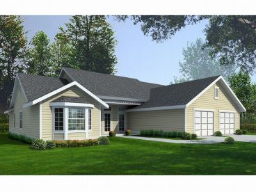 Ranch Home Plan, 026H-0122