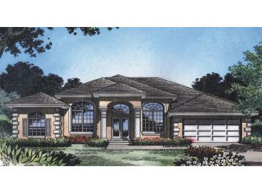 Stucco Home Plan, 043H-0125