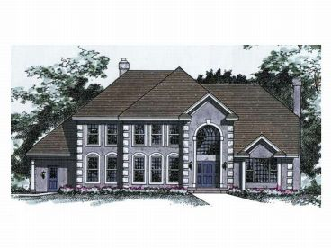 2-Story Home Plan, 023H-0031