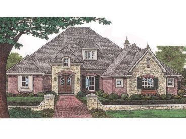 European House Plan, 002H-0030