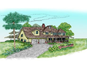 Country Home Plan, 013H-0024