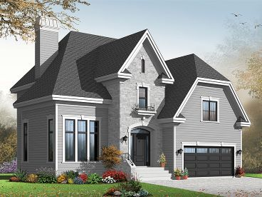 European House Plan, 027H-0297