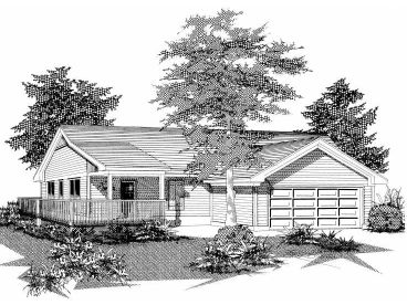 Small Ranch House Plan, 061H-0017