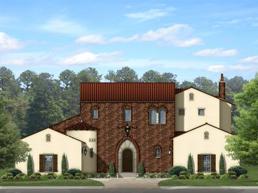 European House Plan, 064H-0090