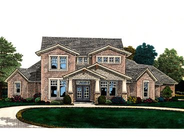 Craftsman House Plan, 002H-0117