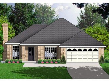 Ranch Home Plan, 015H-0042