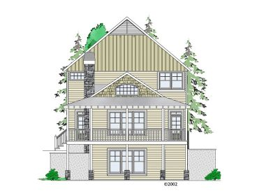 Narrow Lot Home Plan, 053H-0088