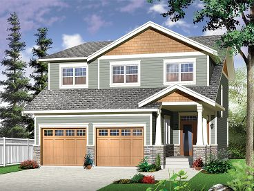 Craftsman Home Plan, 027H-0346