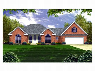 Ranch House Plan, 001H-0105