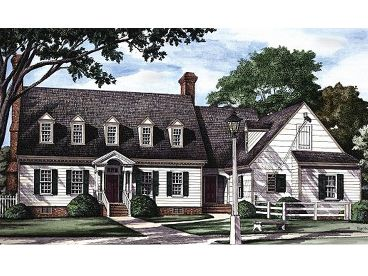 Cape Cod House Plan, 063H-0003