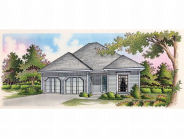 Narrow Lot Home Plan, 021H-0021