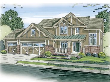 Tudor House Plan, 050H-0079