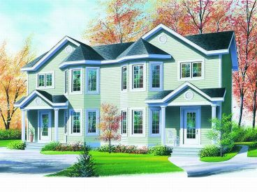 Duplex House Plan, 027M-0025