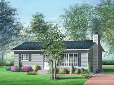 Small Ranch House Plan, 072H-0039