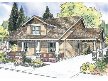 Arts & Crafts House Plan, 051H-0142