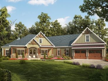 Craftsman House Plan, 019H-0161