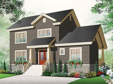 Two-Story Home Plan, 027H-0307