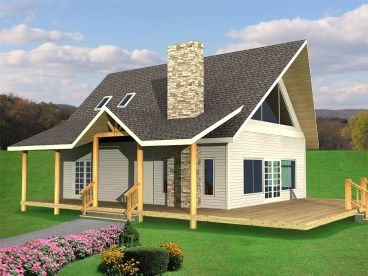 Vacation House Plan, 012H-0173