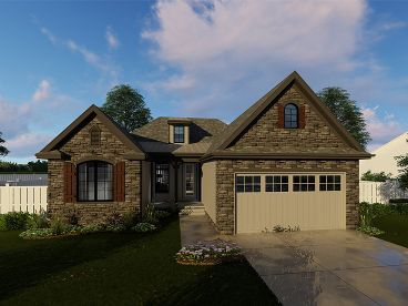 European House Plan, 050H-0132