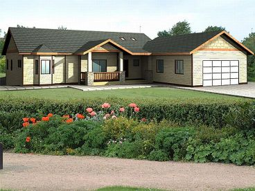 Ranch House Plan, 012H-0061