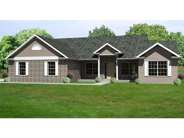 Ranch Home Plan, 048H-0030