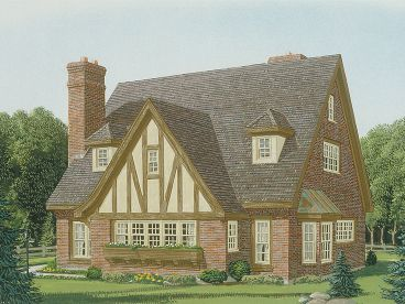 Tudor House Plan, 054H-0011