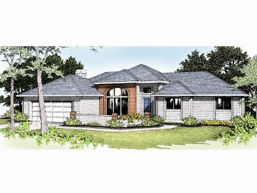 Contemporary Home Plan, 026H-0001