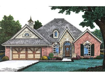European House Plan, 002H-0057
