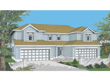 Duplex House Plan, 026M-0001
