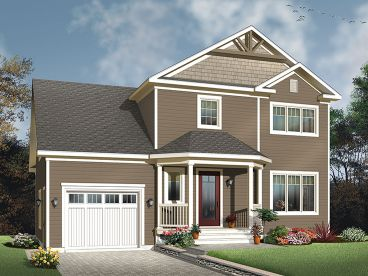 Two-Story House Plan, 027H-0438