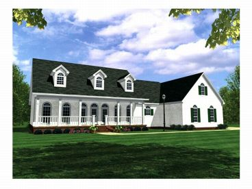 One-Story House Plan, 001H-0113
