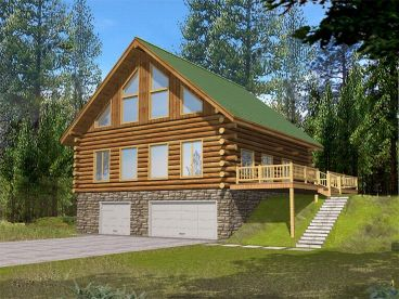 Log House, Left/Front, 012L-0042