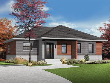 Modern Ranch Home, 027H-0369