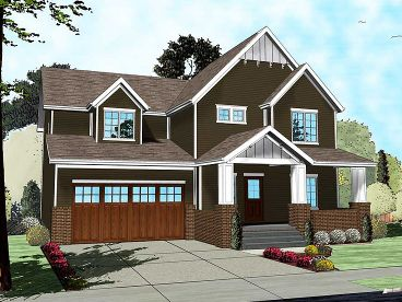 Two-Story Home Design, 050H-0100