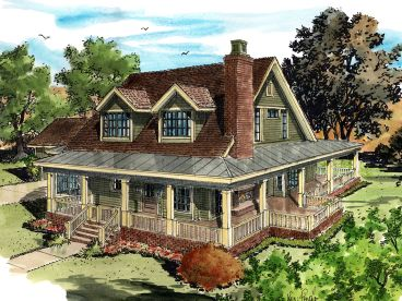 Country House Plan, 066H-0039