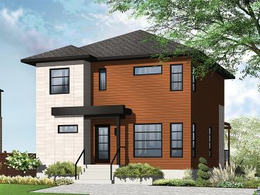 Small Modern House Plan, 027H-0335