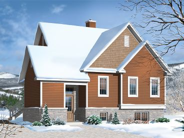 Narrow Lot House Plan, 027H-0356