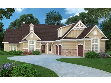 Euroepan House Plan, 021H-0234