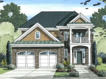 Narrow Lot House Plan, 046H-0081