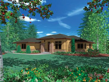 Contemporary House Plan, 034H-0077