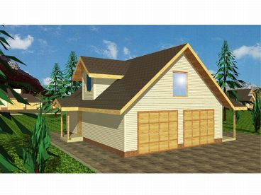 Garage Apartment Plan, 012G-0002