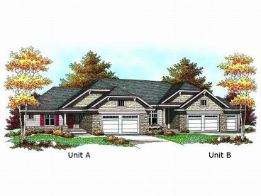 Duplex Home Plan, 020M-0050
