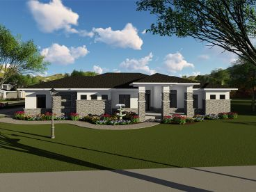 Contemporary House Plan, 020H-0444