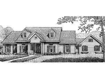Colonial House Plan, 054H-0111