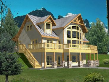 Mountain House Plan, 012H-0044